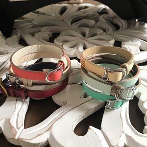 6 Leather Bracelets